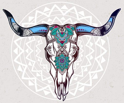 Skull ibiza style