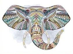 olifant in Ibiza style