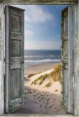 een deur met oceaan uitzicht, full